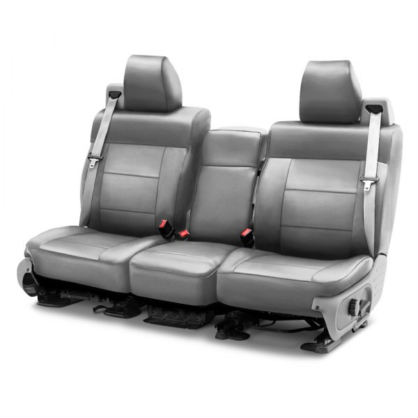 Coverking® - Leatherette 1st Row Light Gray Custom Seat Cover