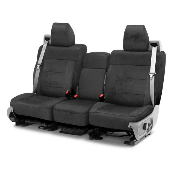 Coverking® - Velour 1st Row Charcoal Custom Seat Cover