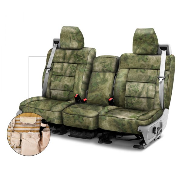 Coverking® - A-TACS™ 1st Row Tactical Camo Foliage Green Custom Seat Covers