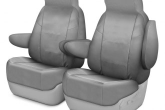 Image may not reflect your exact vehicle! Coverking® - Cordura Ballistic 1st Row Light Gray Custom Seat Cover