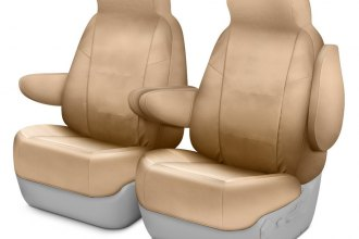 Image may not reflect your exact vehicle! Coverking® - Cordura Ballistic 1st Row Cashmere Custom Seat Cover