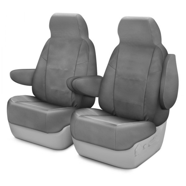 Coverking® - Polycotton Drill 1st Row Medium Gray Custom Seat Cover