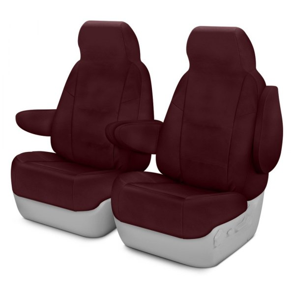Coverking® - Polycotton Drill 1st Row Wine Custom Seat Cover