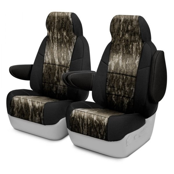 Coverking® - Mossy Oak™ 1st Row Two-Tone Bottomland Custom Seat Covers