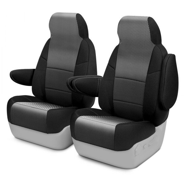 Carbon Black GT Racing Design Spacer Mesh Airbag Auto Car Truck SUV Seat Covers