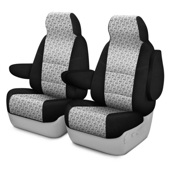 Coverking® - Designer Printed Neosupreme 1st Row Chrome Diamond Custom Seat Cover