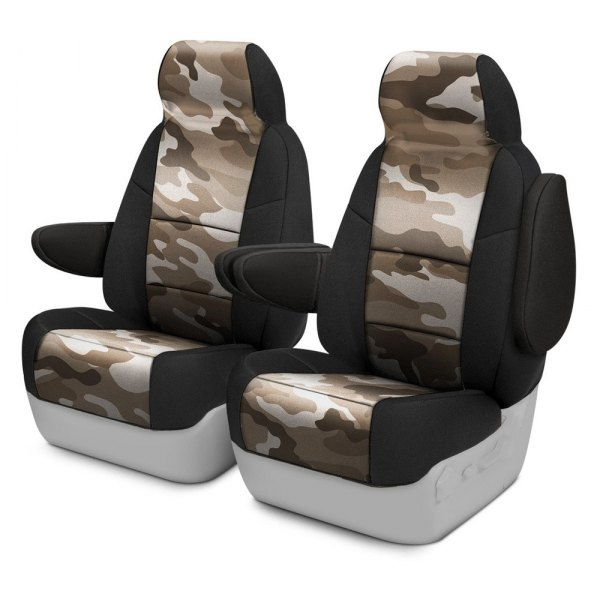 Coverking® - Traditional 1st Row Two-Tone Sand Custom Seat Covers