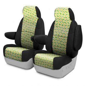 Coverking® - Neosupreme 1st Row Black & Floral Custom Seat Covers
