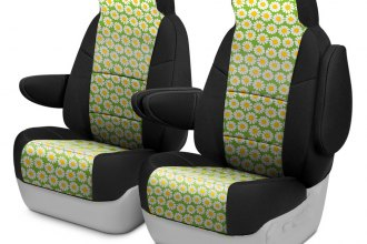 Coverking® - Neosupreme 1st Row Black & Floral Custom Seat Cover