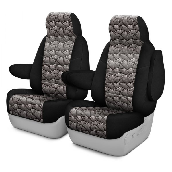 Coverking® - Neosupreme 2nd Row Black & Armor Custom Seat Cover