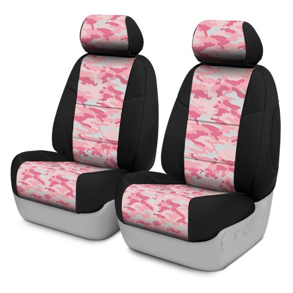 Coverking® - Traditional 1st Row Two-Tone Pink Custom Seat Covers