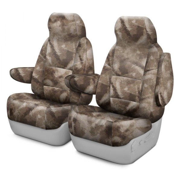 Coverking® - A-TACS™ 1st Row Camo Cordura Ballistic Arid Urban Custom Seat Covers