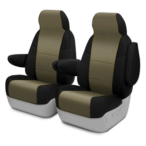 Coverking® - CR-Grade Neoprene 1st Row Black & Tan Custom Seat Cover