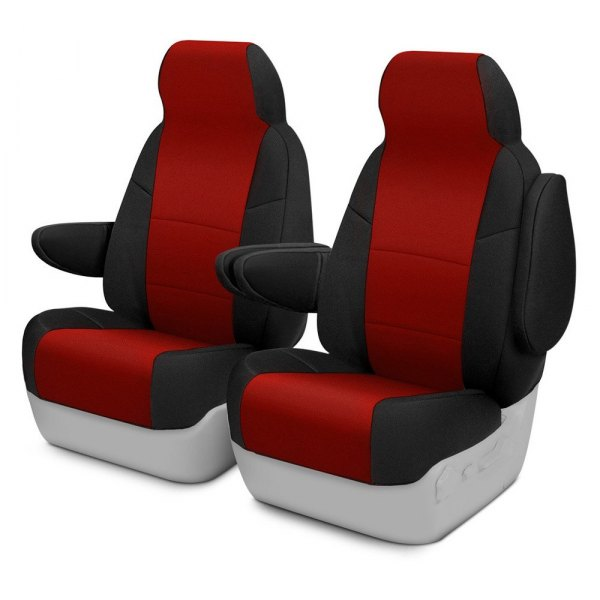 Coverking® - CR-Grade Neoprene 1st Row Black & Red Custom Seat Cover