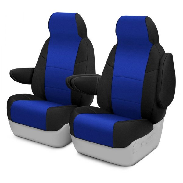 Coverking® - CR-Grade Neoprene 1st Row Black & Blue Custom Seat Cover