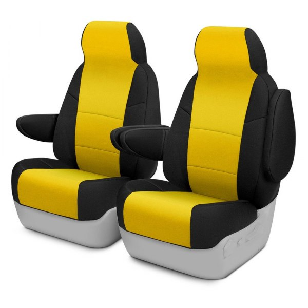 Coverking® - CR-Grade Neoprene 1st Row Black & Yellow Custom Seat Cover