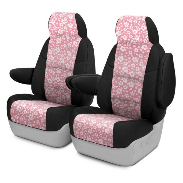 Coverking® - CR-Grade Neoprene 1st Row Black & Hawaiian Pink Custom Seat Cover