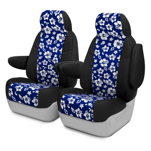 Coverking® - CR-Grade Neoprene 2nd Row Black & Hawaiian Blue Custom Seat Cover