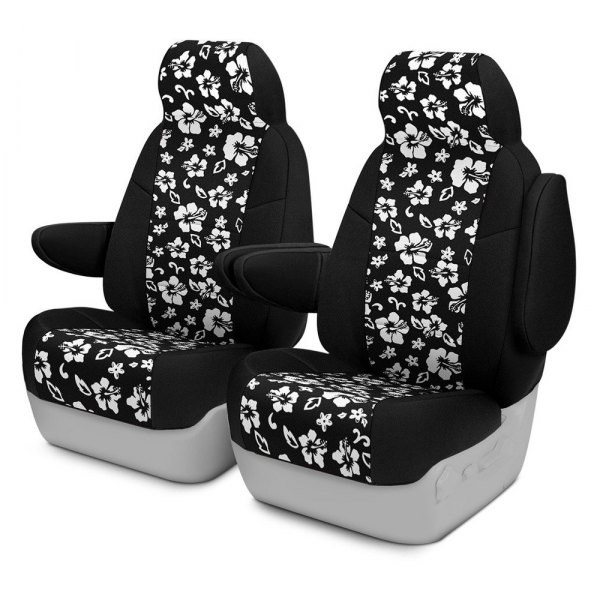 Coverking® - CR-Grade Neoprene 1st Row Black & Hawaiian Black Custom Seat Cover