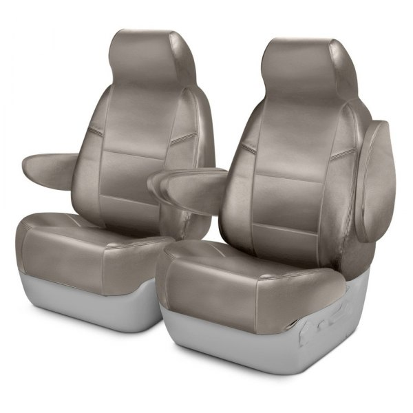 Image may not reflect your exact vehicle! Coverking® - Leatherette 1st Row Cashmere Custom Seat Cover