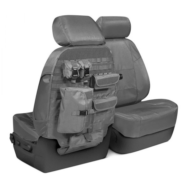Coverking® - Cordura Ballistic 1st Row Charcoal Custom Seat Covers