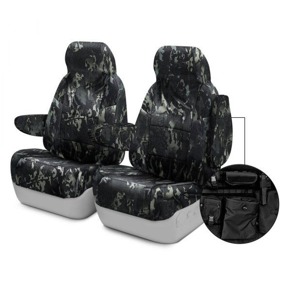 Coverking® - Multicam™ 1st Row Black Custom Seat Covers