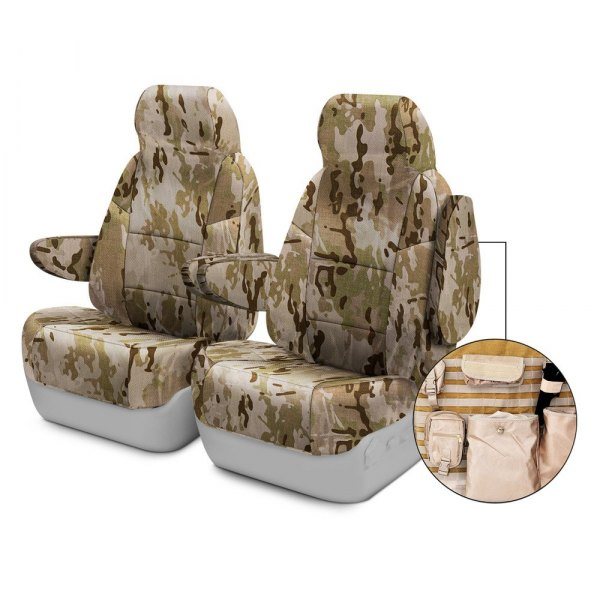 Coverking® - Multicam™ 1st Row Tactical Camo Arid Custom Seat Covers