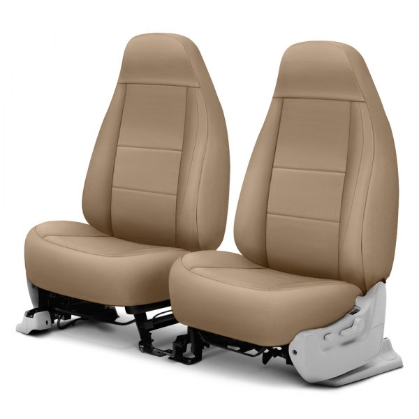Coverking® - Polycotton Drill 1st Row Cashmere Custom Seat Cover