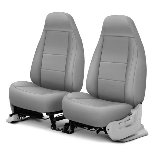 Coverking® - Polycotton Drill 1st Row Light Gray Custom Seat Cover