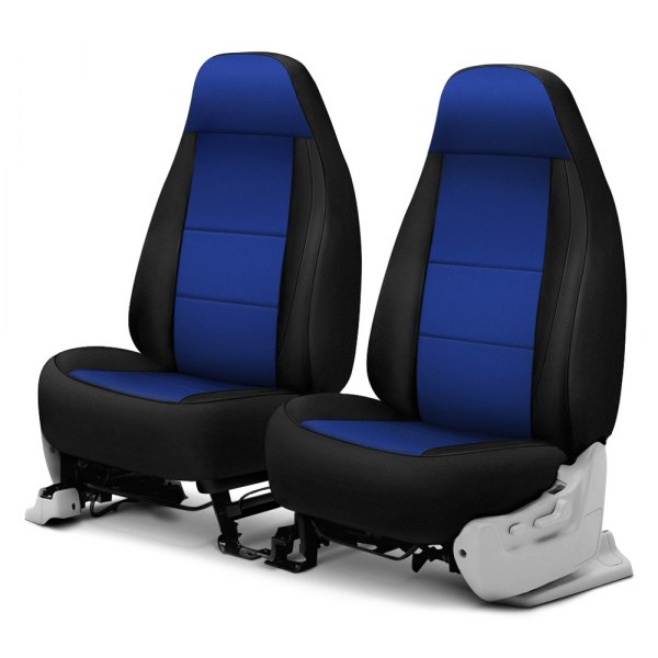 Coverking® - Neosupreme 1st Row Black & Blue Custom Seat Cover