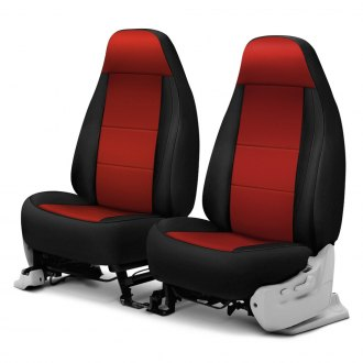 Coverking® - Neosupreme 1st Row Black & Red Custom Seat Covers