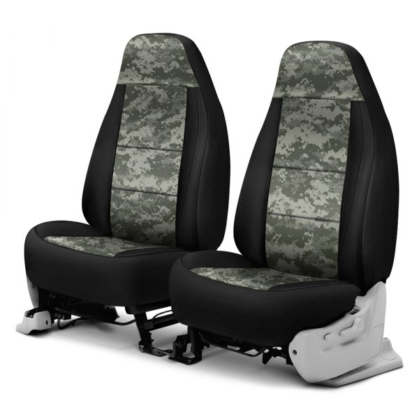 Coverking® - Digital 1st Row Two-Tone Jungle Custom Seat Covers