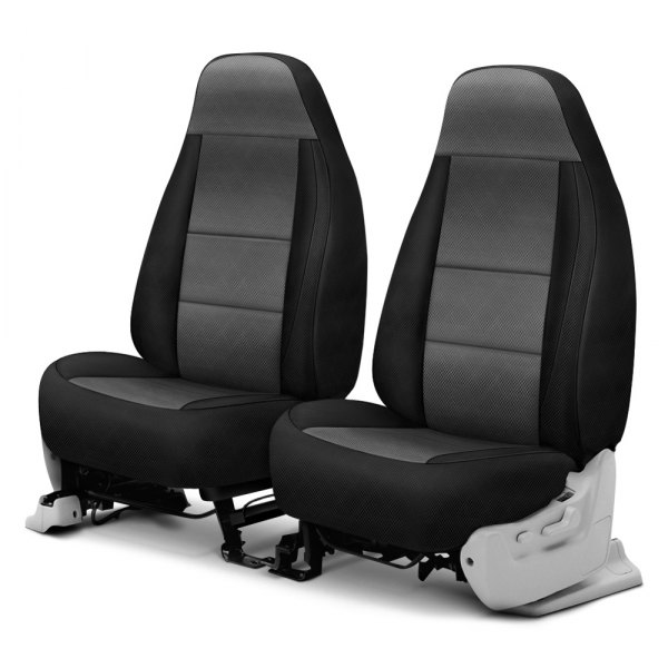 Coverking® - Spacer Mesh 1st Row Black & Gray Custom Seat Cover