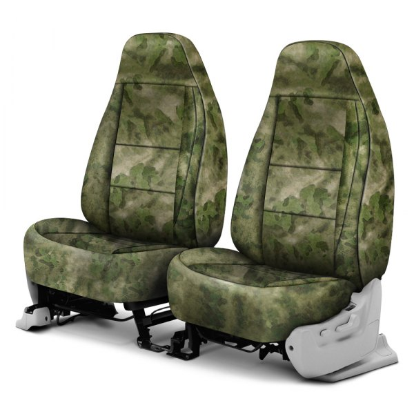 Coverking® - A-TACS™ 1st Row Camo Cordura Ballistic Foliage Green Custom Seat Covers
