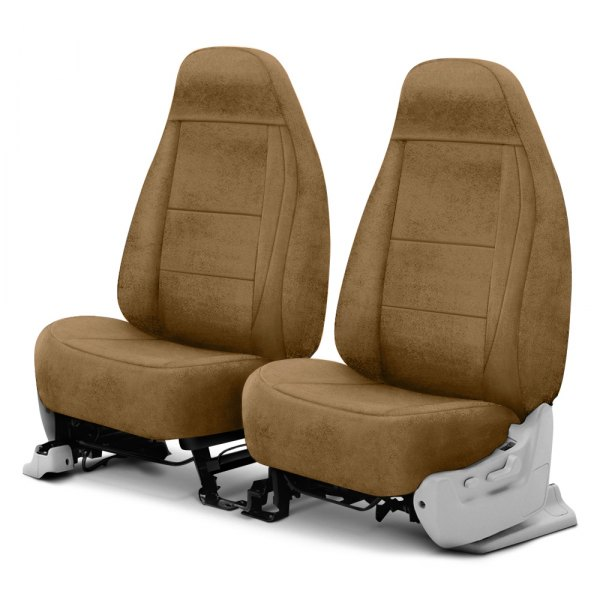 Coverking® - Velour 1st Row Tan Custom Seat Cover
