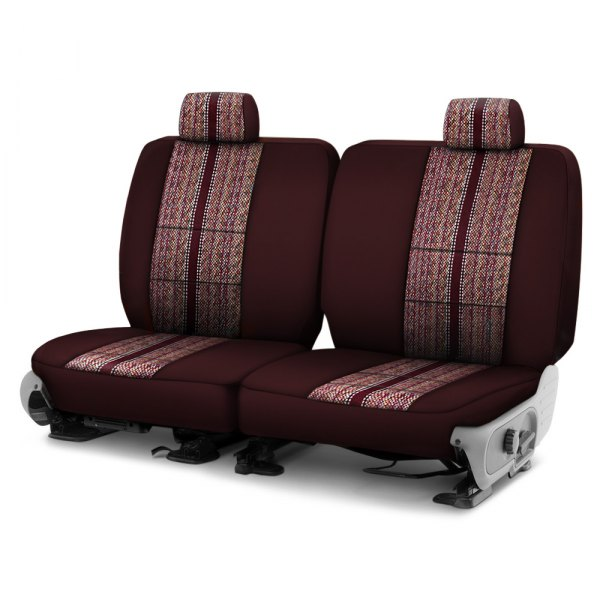 Coverking® - Saddleblanket 1st Row Wine Custom Seat Cover