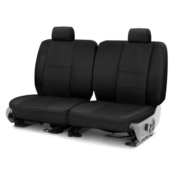 Image may not reflect your exact vehicle! Coverking® - Polycotton Drill 2nd Row Black Custom Seat Cover