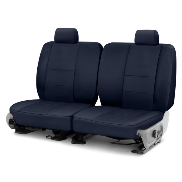 Coverking® - Polycotton Drill 2nd Row Navy Blue Custom Seat Cover