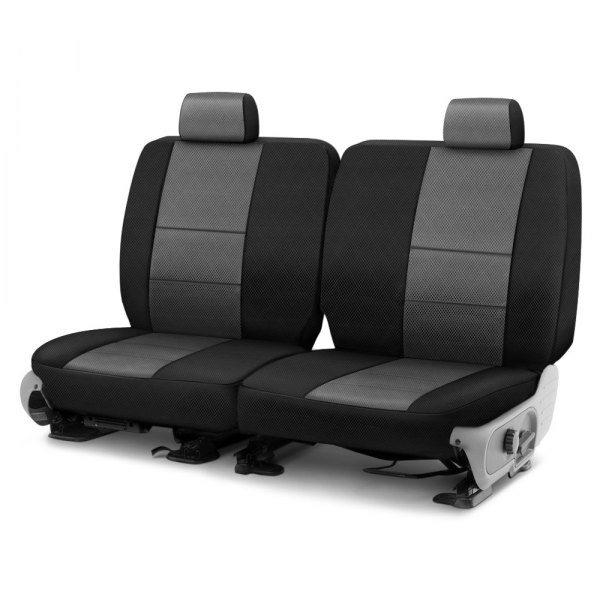 Coverking® - Spacer Mesh 3rd Row Black & Gray Custom Seat Cover
