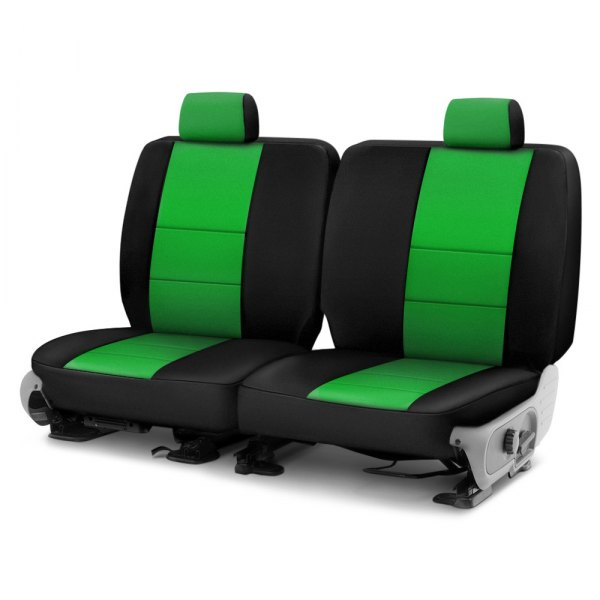Coverking® - CR-Grade Neoprene 3rd Row Black & Synergy Green Custom Seat Cover