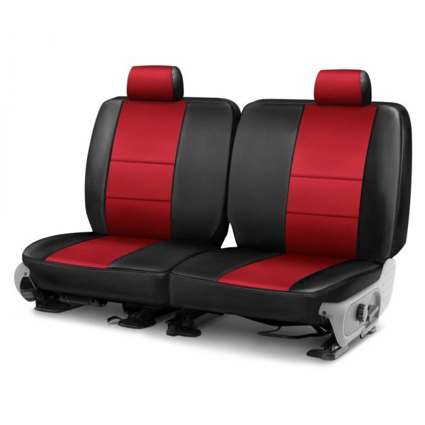 Coverking® - Leatherette 3rd Row Black & Red Custom Seat Cover
