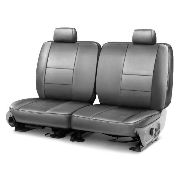 Coverking® - Premium Leatherette 2nd Row Light Gray Custom Seat Cover