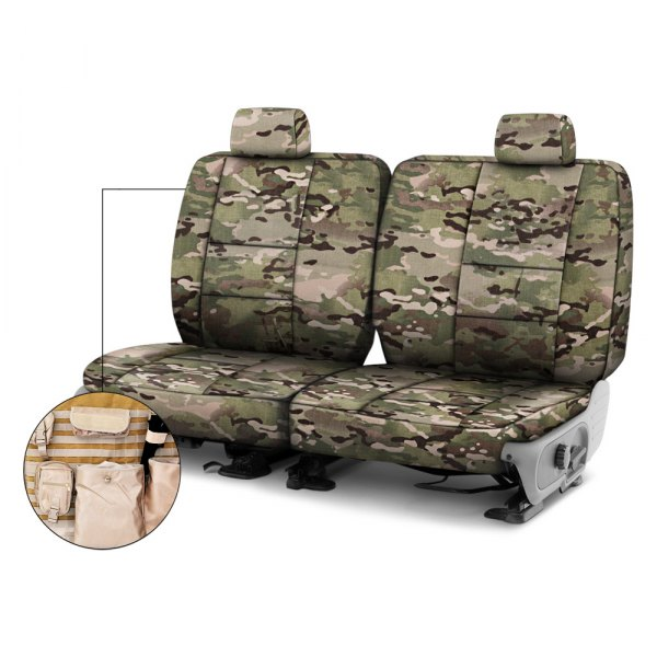 Coverking® - Multicam™ 2nd Row Tactical Camo Classic Custom Seat Covers
