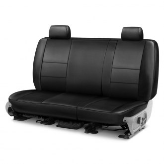 Coverking® - Genuine Leather 2nd Row Black Custom Seat Covers