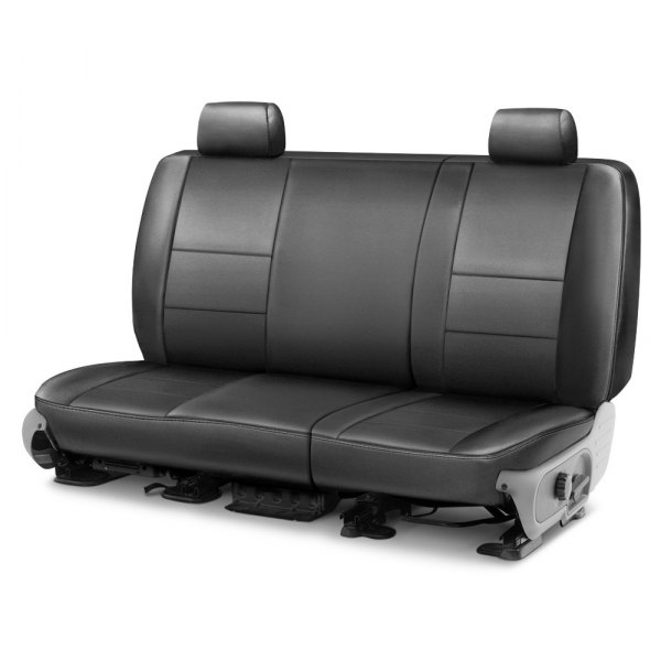 Image may not reflect your exact vehicle! Coverking® - Genuine Leather 2nd Row Gray Custom Seat Cover