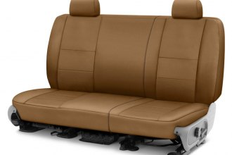 Image may not reflect your exact vehicle! Coverking® - Polycotton Drill 2nd Row Tan Custom Seat Cover