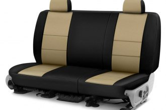 Image may not reflect your exact vehicle! Coverking® - Neosupreme 2nd Row Black & Blue Custom Seat Cover