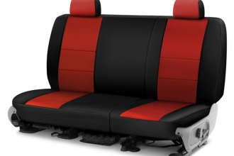 Coverking® - Neosupreme 2nd Row Black & Red Custom Seat Cover