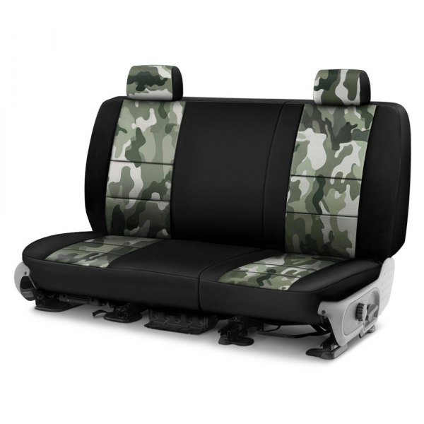 Coverking® - Traditional 2nd Row Two-Tone Jungle Custom Seat Covers