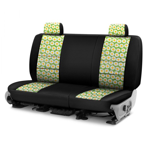 Coverking® - Neosupreme 2nd Row Black & Floral Custom Seat Cover